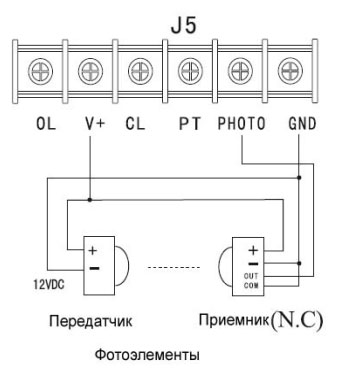 Автоматический шлагбаум схема