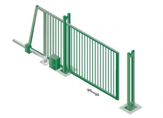 Принцип работы автоматики откатных ворот