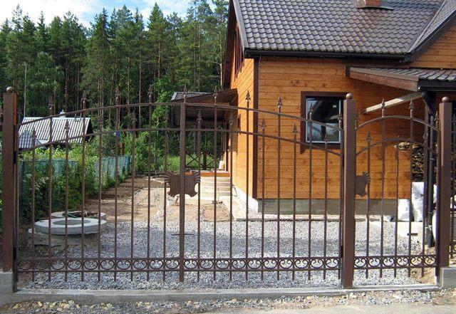 Ворота для дачи фото