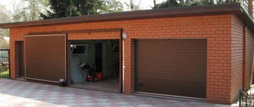 Секционные гаражные ворота с автоматическим приводом