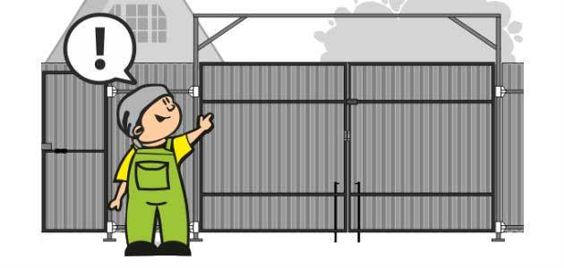Установка автоматических ворот на даче