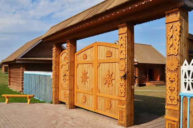 Фото ворота деревянные