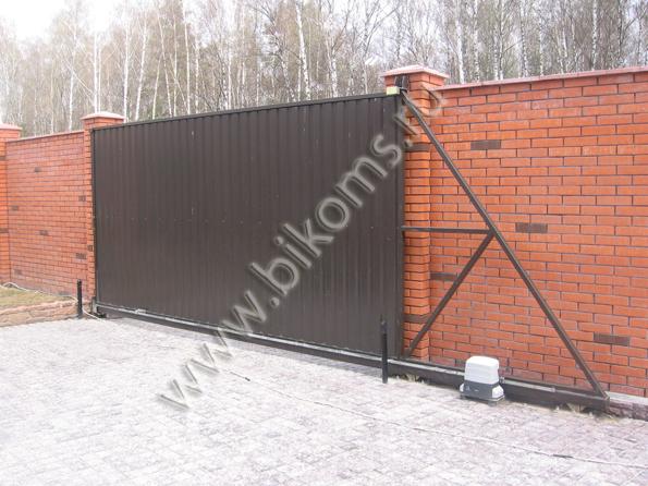 Откатные ворота тел 495 7923459 автоматика для ворот kaliningrad